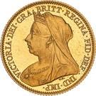 ½ Sovereign - Victoria – obverse