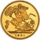 ½ Sovereign - Victoria – reverse