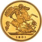 ½ Sovereign - Victoria -  reverse
