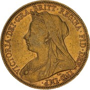 1 Sovereign - Victoria -  obverse