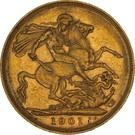 1 Sovereign - Victoria – reverse