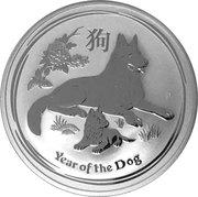 1 Dollar - Elizabeth II (4th Portrait - Year of the Dog - Silver Bullion Coin) -  reverse