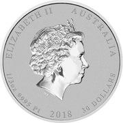 30 Dollars - Elizabeth II (4th Portrait - Emperor Penguin - Platinum Bullion Coin) -  obverse