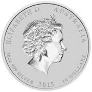 10 Dollars - Elizabeth II (Year of the Goat) -  obverse