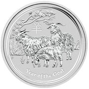10 Dollars - Elizabeth II (Year of the Goat) -  reverse