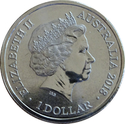 1 Dollar - Elizabeth II (4th Portrait - Australia's Convict Era) – obverse