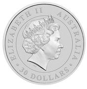 30 Dollars - Elizabeth II (4th Portrait - Koala - Silver Bullion coin) -  obverse
