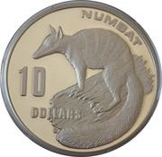 10 Dollars - Elizabeth II (Numbat; Piedfort) -  reverse