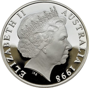 10 Dollars - Elizabeth II (4th Portrait - Hairy Nosed Wombat - Frosted Proof) – obverse