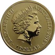 1 Dollar - Elizabeth II (4th Portrait - Australian Olympic Team - Pyeongchang 2018) -  obverse