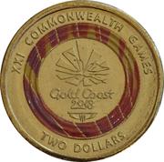 2 Dollars - Elizabeth II (XXI Commonwealth Games - Emblem) – reverse