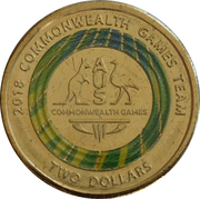 2 Dollars - Elizabeth II (XXI Commonwealth Games - Team Logo) – reverse