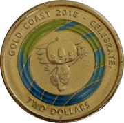 2 Dollars - Elizabeth II (XXI Commonwealth Games - Borobi Mascot) – reverse