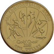 1 Dollar - Elizabeth II (XXI Commonwealth Games) – reverse