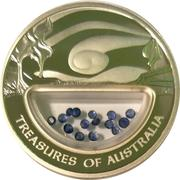 1 Dollar - Elizabeth II (Treasures of Australia - Sapphires) -  reverse