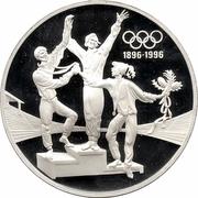 20 Dollars - Elizabeth II (3rd Portrait - Olympics 100 Years - Silver Proof) -  reverse