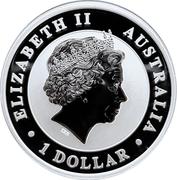 1 Dollar - Elizabeth II (4th Portrait - Emu - Silver Bullion Coin) -  obverse