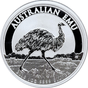 1 Dollar - Elizabeth II (Silver Bullion Coinage - Emu) -  reverse