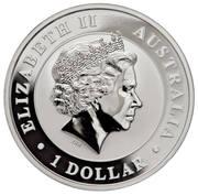 1 Dollar - Elizabeth II (Silver Bullion Coinage - Australian Wedge-Tailed Eagle) -  obverse
