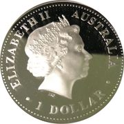 1 Dollar - Elizabeth II (Golden Pipeline) -  obverse