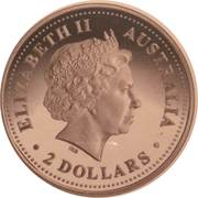 2 Dollars - Elizabeth II (Kookaburra) -  obverse