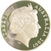 5 Dollars - Elizabeth II (4th Portrait - William Dobell - Masterpieces in Silver) -  obverse