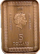 5 Dollars - Elizabeth II (4th Portrait - Magna Carta) -  obverse
