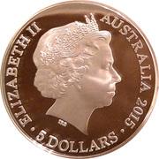 5 Dollars - Elizabeth II (4th Portrait - VOC Batavia - Silver Proof) -  obverse