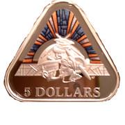 5 Dollars - Elizabeth II (Land, Sea & Air) -  reverse