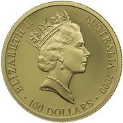 100 Dollars - Elizabeth II (Summer Olympics) -  obverse