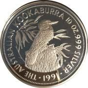50 Dollars - Elizabeth II (4th Portrait - Kookaburra - Silver Bullion Coin) -  reverse