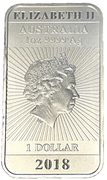 1 Dollar - Elizabeth II (4th Portrait - Chinese Dragon Bullion Bar) -  obverse