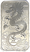 1 Dollar - Elizabeth II (4th Portrait - Chinese Dragon Bullion Bar) -  reverse