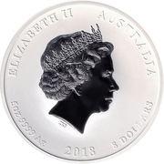 8 Dollars - Elizabeth II (4th Portrait - Year of the Dog - Silver Bullion Coin) -  obverse