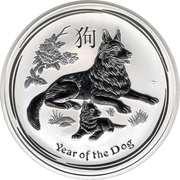 8 Dollars - Elizabeth II (Year of the Dog) – reverse