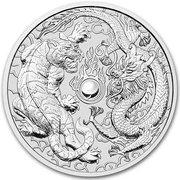 1 Dollar - Elizabeth II (Dragon & Tiger) -  reverse
