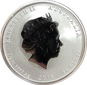 50 Cents - Elizabeth II (Year of the Dog) – obverse