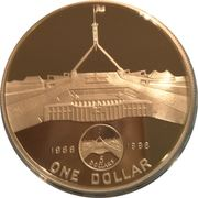 1 Dollar - Elizabeth II (New Parliament House) -  reverse