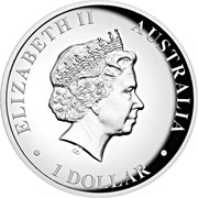 1 Dollar - Elizabeth II (4th Portrait - Koala  - Silver Proof High Relief) -  obverse