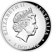 1 Dollar - Elizabeth II (Koala Silver Proof High Relief) -  obverse