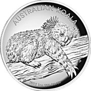 1 Dollar - Elizabeth II (4th Portrait - Koala  - Silver Proof High Relief) -  reverse