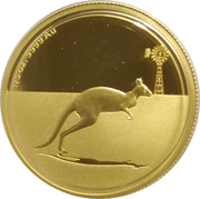 25 Dollars - Elizabeth II (4th Portrait - Kangaroo, Windmill right - Gold Bullion Coin) -  reverse