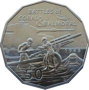 50 Cents - Elizabeth II (Coral & Balmoral) -  reverse