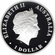 1 Dollar - Elizabeth II (4th Portrait - Discover Australia - Kangaroo) -  obverse