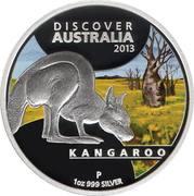 1 Dollar - Elizabeth II (4th Portrait - Discover Australia - Kangaroo) -  reverse