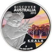 1 Dollar - Elizabeth II (4th Portrait - Discover Australia - Koala) -  reverse