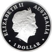 1 Dollar - Elizabeth II (4th Portrait - Discover Australia - Platypus) -  obverse