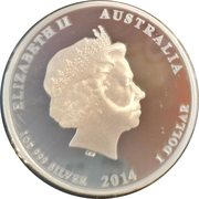 1 Dollar - Elizabeth II (Red Cross) – obverse