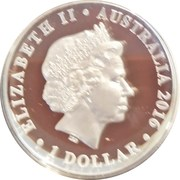 1 Dollar - Elizabeth II (4th Portrait - Dirk Hartog Landing - Silver Proof High Relief) -  obverse