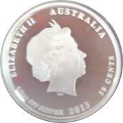 50 Cents - Elizabeth II (Bush Babies II - Wombat) -  obverse